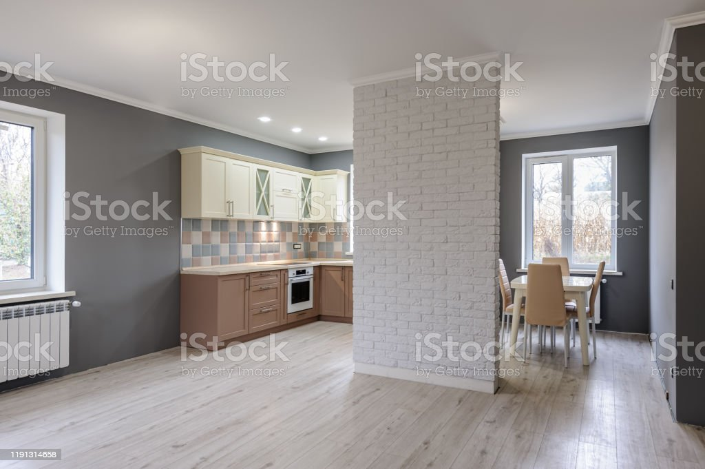 Luxury Modern Provence Styled Grey Pink And Cream Kitchen Interior Stock Photo Download Image Now Istock