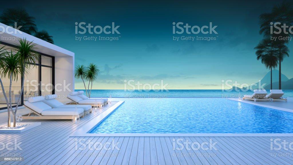 Fotograf a de casas de estilo moderno de lujo en la playa for Casas para alquilar en verano con piscina privada