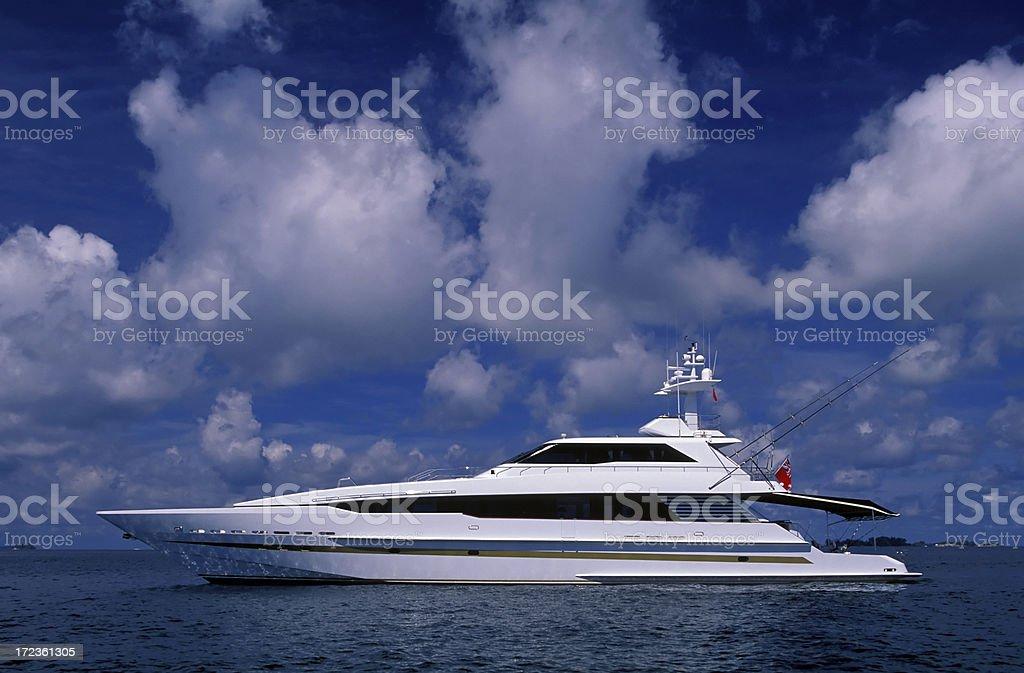 luxury motor yacht royalty-free stock photo
