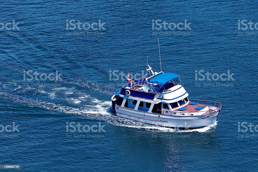 luxury motorboat royalty-free stock photo
