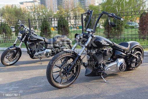 istock Luxury motorcycles at the motorcycle show 1160077611
