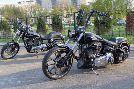 Luxury motorcycles at the motorcycle show