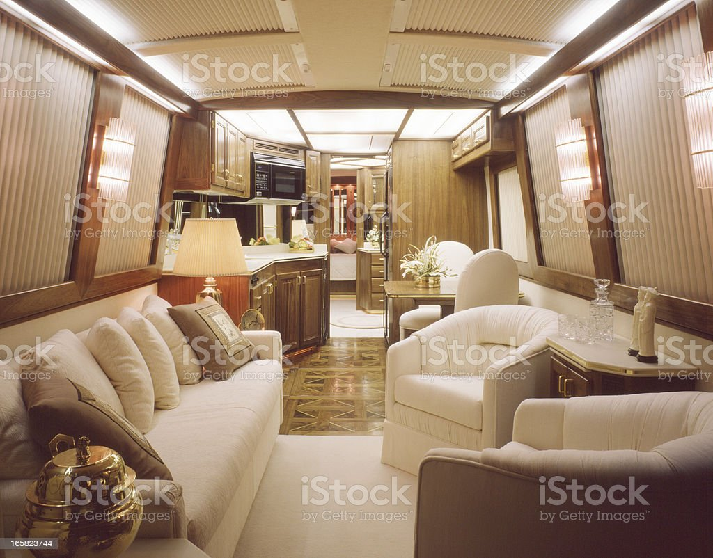 Luxury Motorhome Interior Royalty Free Stock Photo
