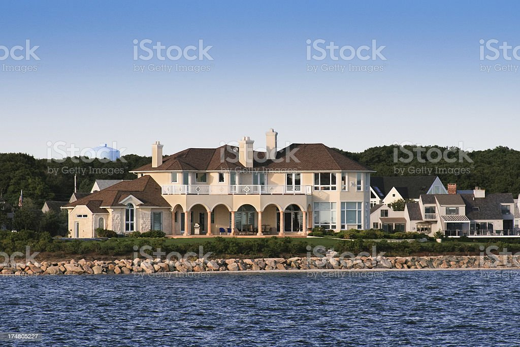 Luxury New England Home stock photo