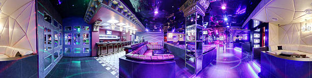 luxury night club in european style new and clean luxury night club in european style 360 degree view stock pictures, royalty-free photos & images