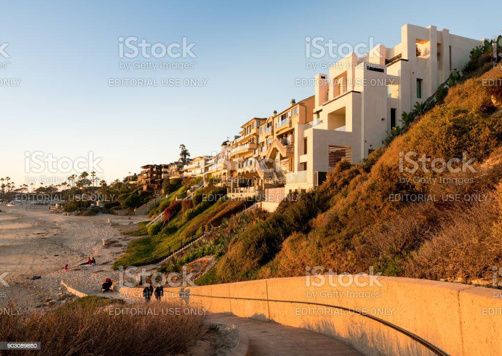 Expensive ocean side homes at Newport Beach in California