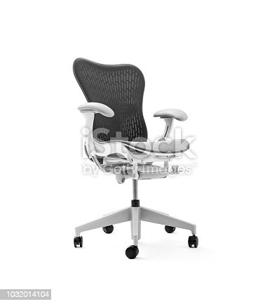 Luxury office chair on white background, including clipping path