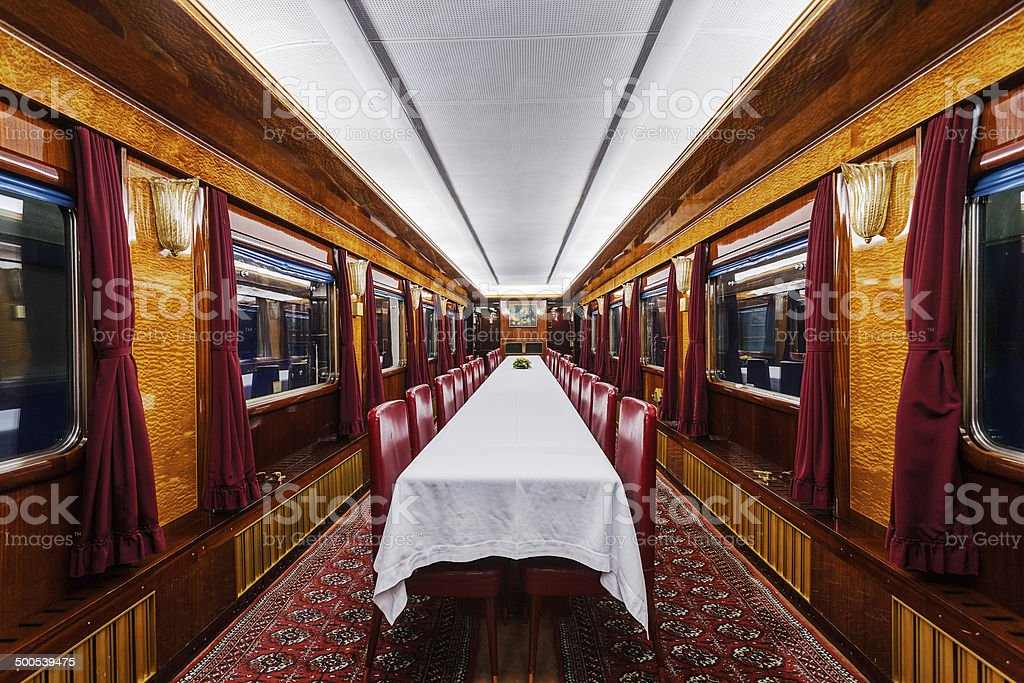 luxury old train carriage stock photo