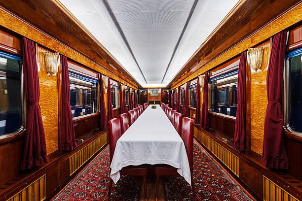 luxury old train carriage - järnvägsvagn tåg bildbanksfoton och bilder