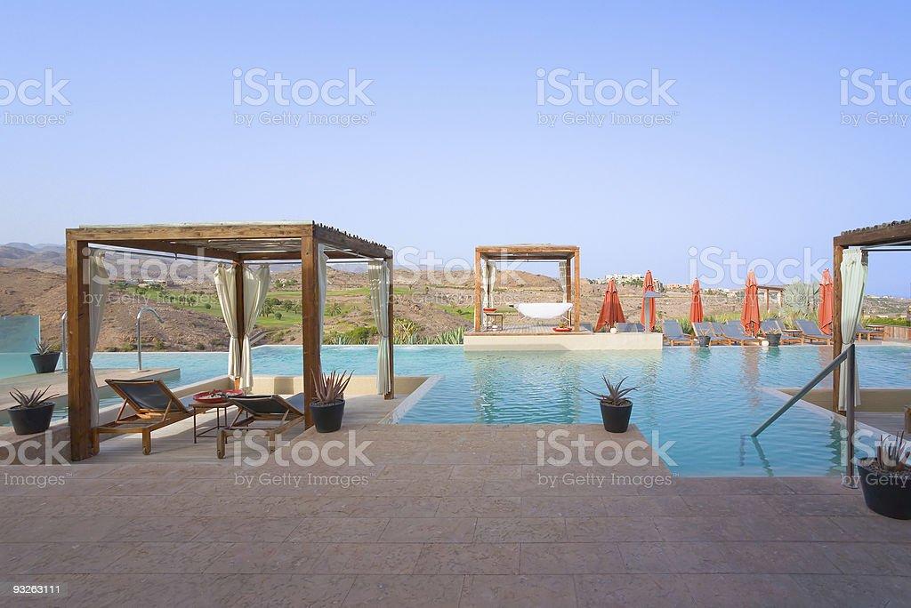 Luxury Outdoor Pool Spa royalty-free stock photo