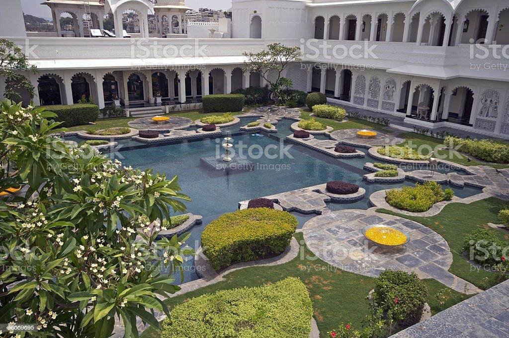 Luxury Palace Courtyard  Bush Stock Photo