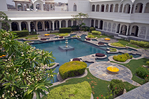 Luxury Palace Courtyard  lake palace stock pictures, royalty-free photos & images