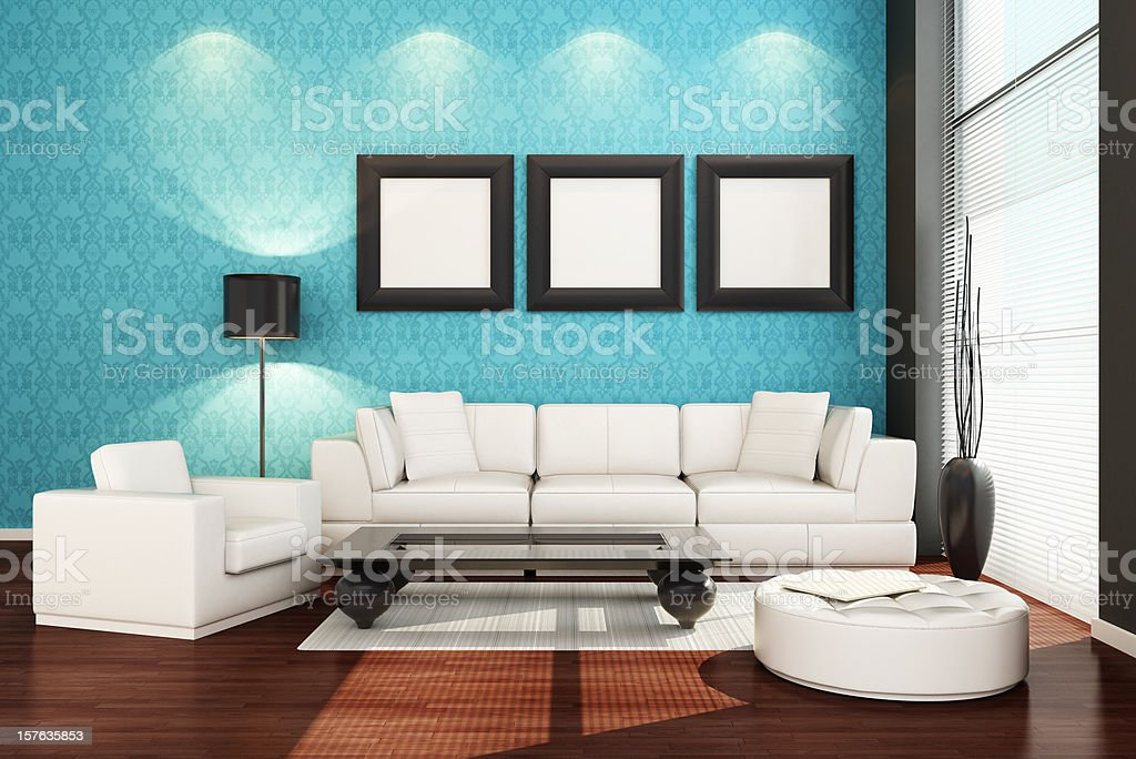 Luxury Penthouse Interior royalty-free stock photo