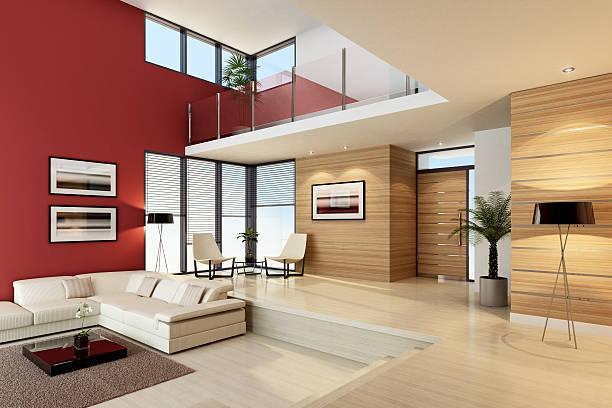 luxuriöses penthouse innen - malerei türen stock-fotos und bilder