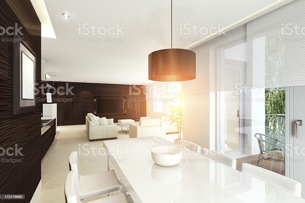 Luxury Penthouse Sunset royalty-free stock photo