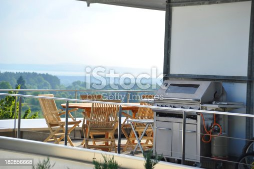 istock luxury penthouse with grill and panorama 182856668