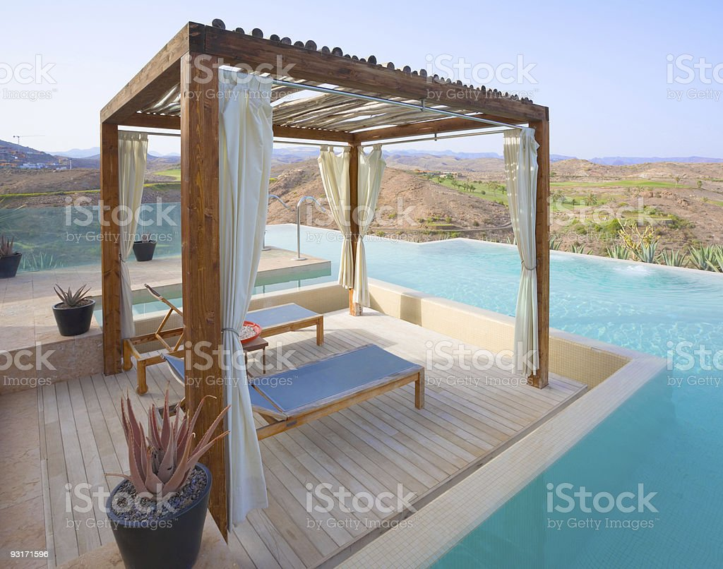 Luxury Pergola royalty-free stock photo