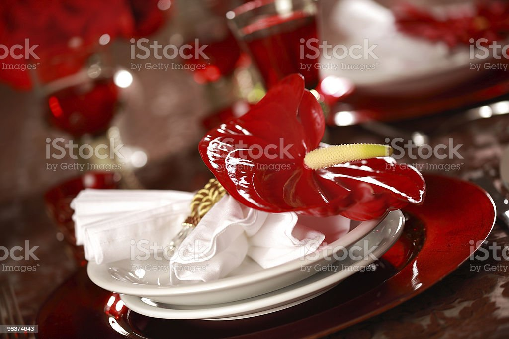 Luxury place setting stock photo