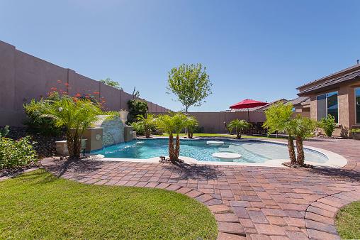 istock Luxury Pool in Arizona 519535817