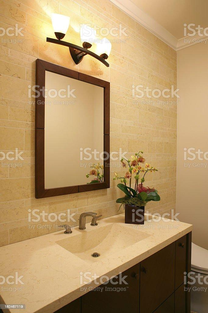 Luxury Powder Room Vanity stock photo