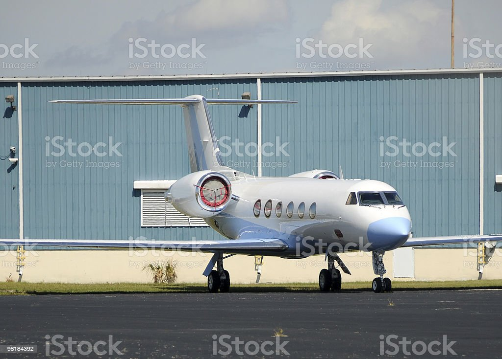 Luxury private jet royalty-free stock photo