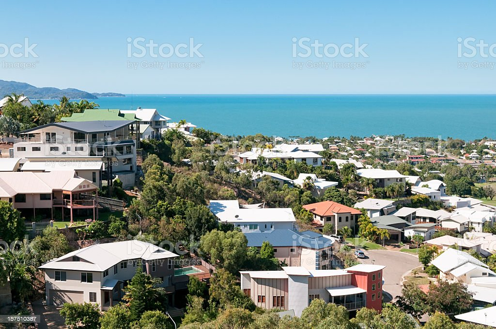 Luxury Properties by the Sea stock photo