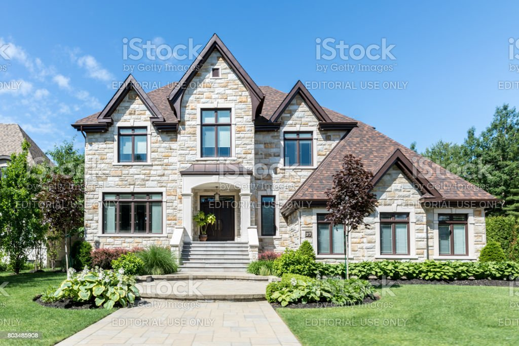 Luxury Property on Sunny Day of Summer stock photo