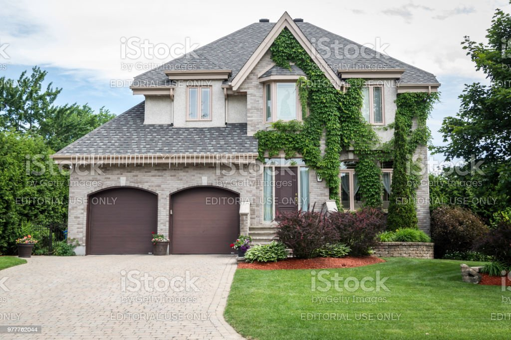 Luxury Property on Sunny Day of Summer stock photo