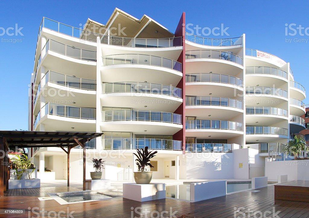 Luxury Queensland Apartments Australia royalty-free stock photo