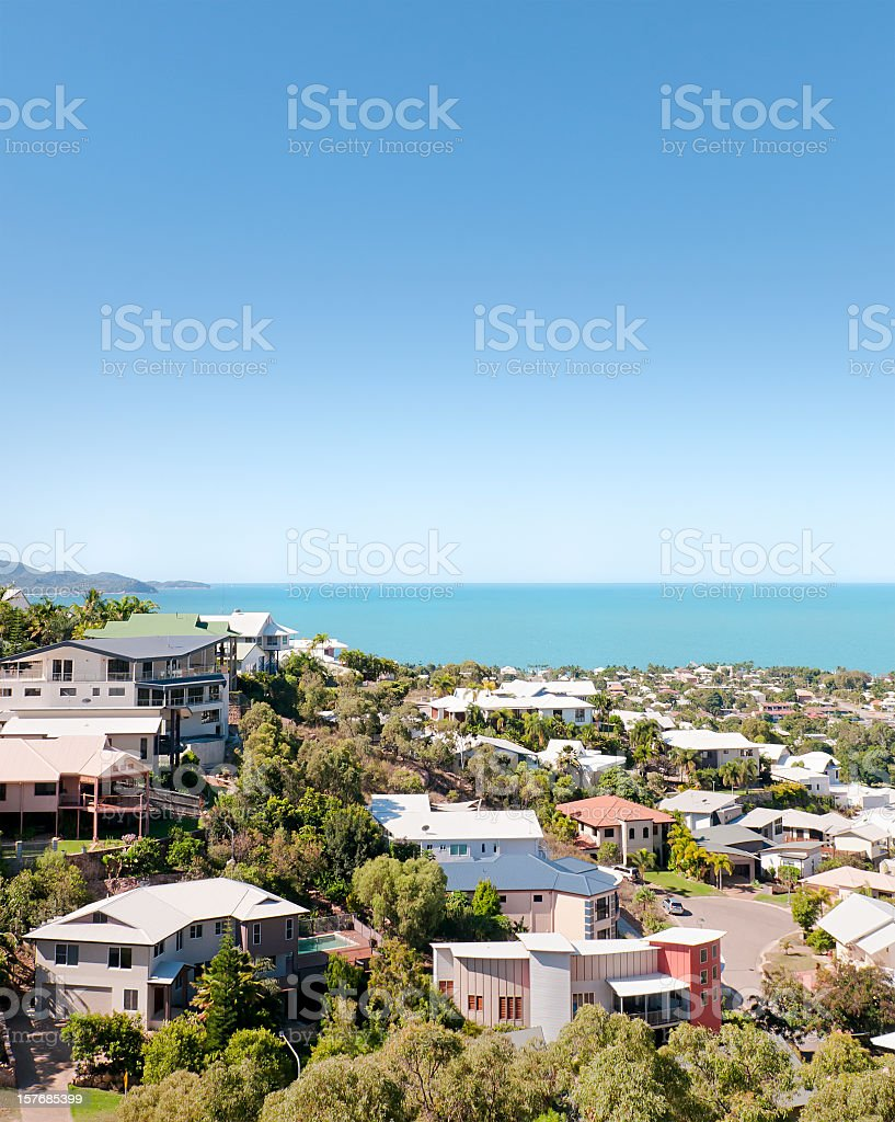 Luxury Real-Estate by the Sea stock photo