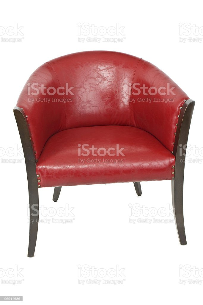 luxury red leather chair royalty-free stock photo