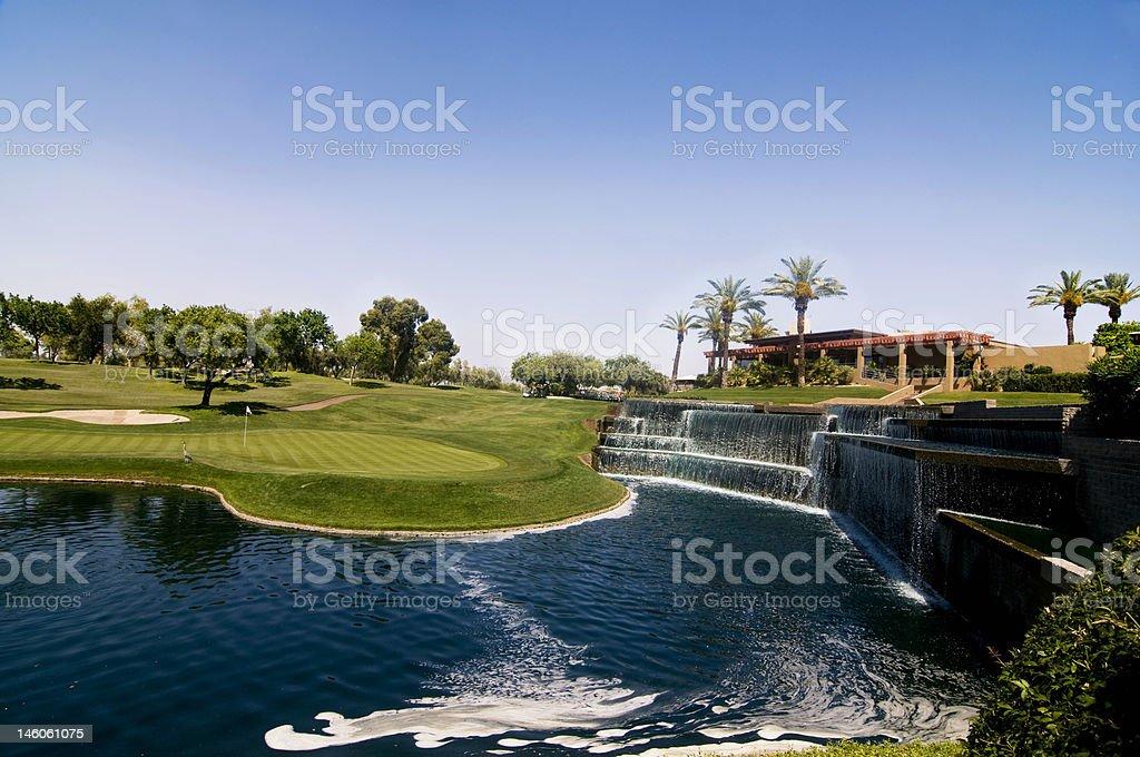 Luxury resort golf course in Scottsdale, AZ stock photo
