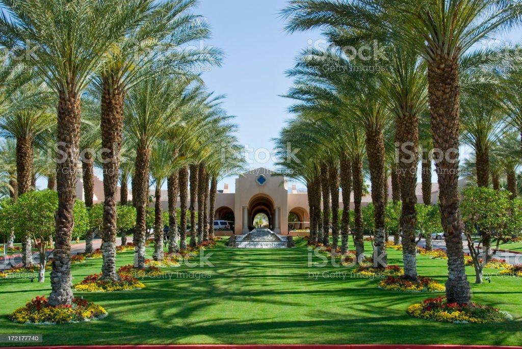 Luxury Resort Hotel Entrance royalty-free stock photo
