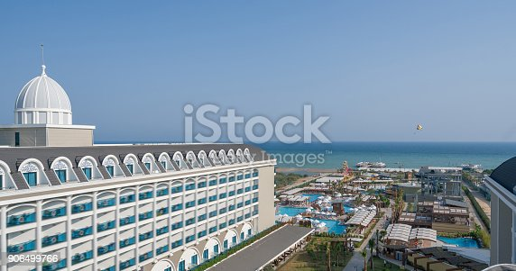 1082419790 istock photo Luxury resort hotel with Swimming Pool aerial view 906499766