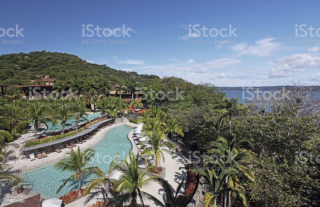 Luxury Resort Overlooking Bay royalty-free stock photo