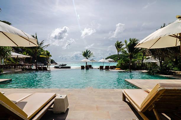 luxus-resort - ferienhaus thailand stock-fotos und bilder