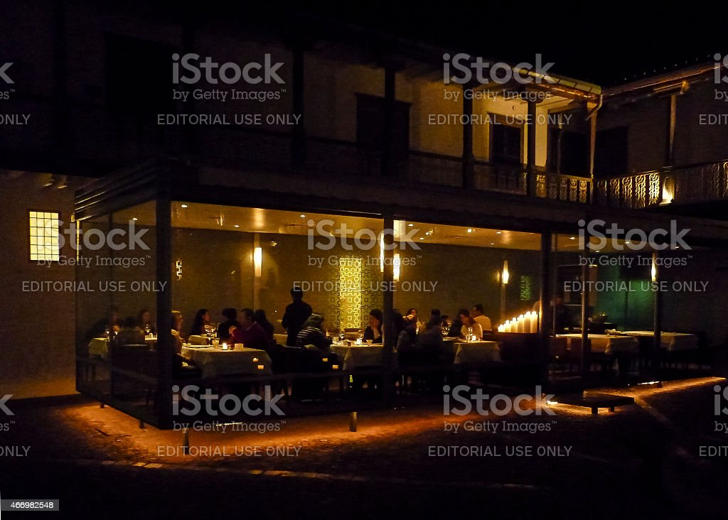 Luxury Restaurant Exterior View At Night Stock Photo Download Image Now Istock