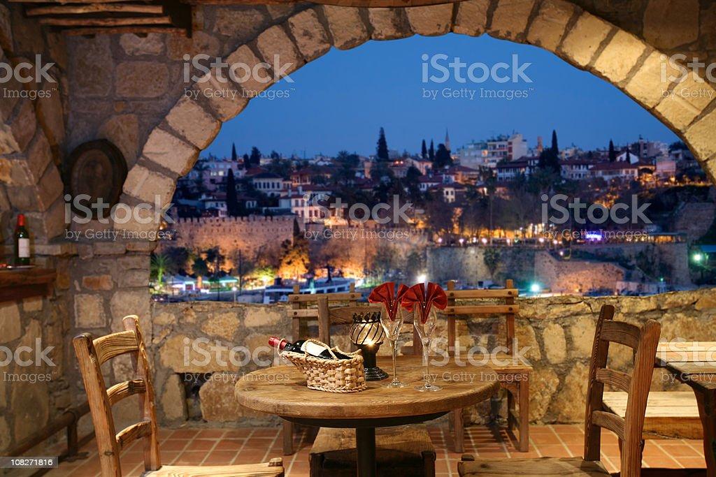 Luxury Restaurant on night time stock photo
