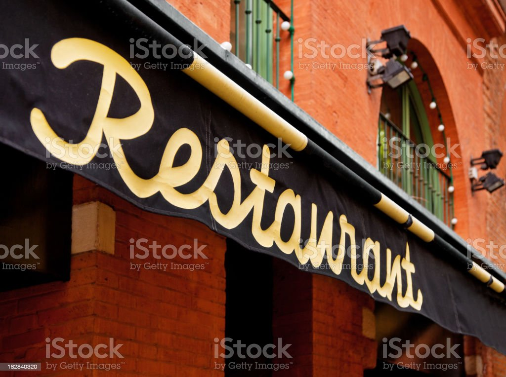 luxury restaurant royalty-free stock photo
