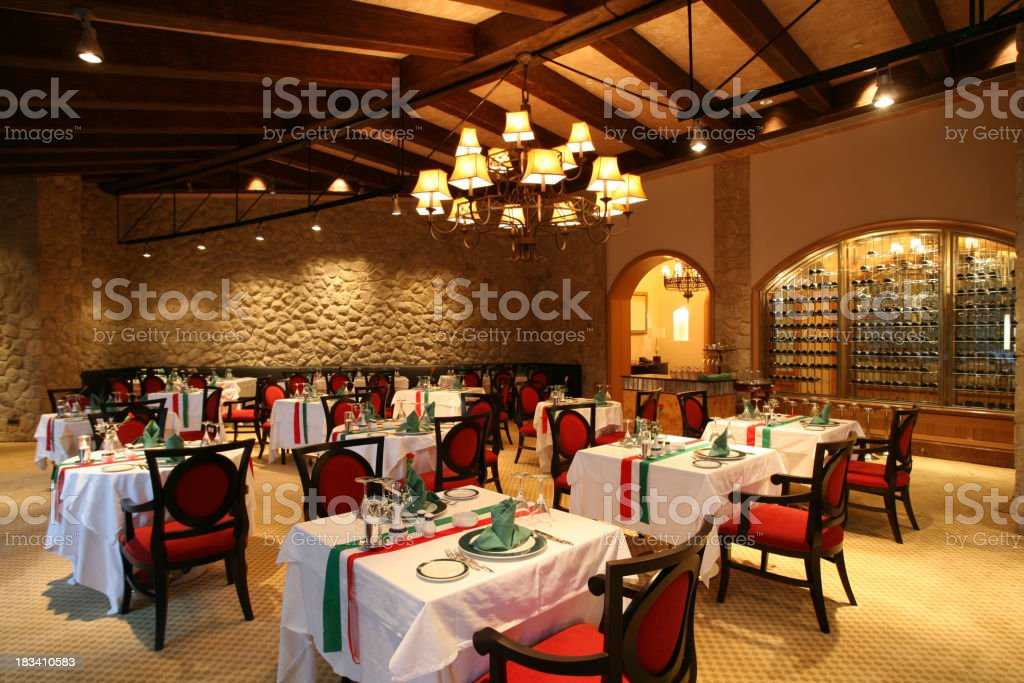 Luxury restaurant stock photo