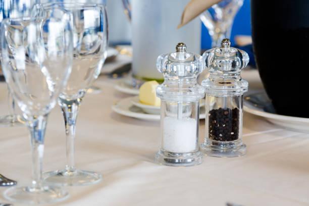 luxury restaurant tableware stock photo