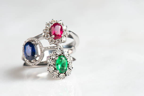 Luxury Rings Luxury rings on white background ring jewelry stock pictures, royalty-free photos & images