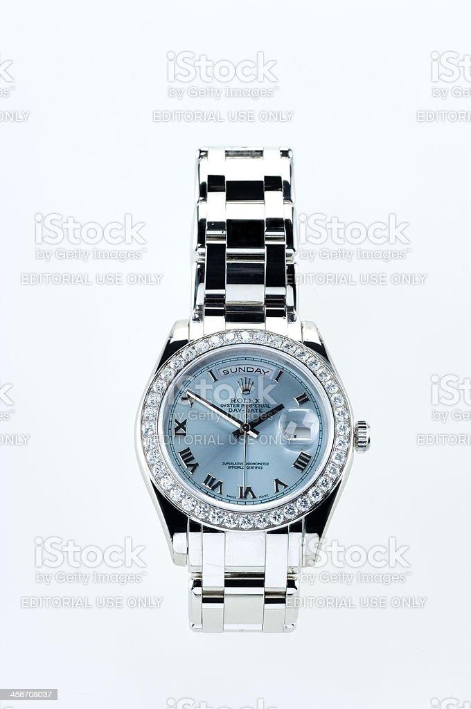 Luxuriose Rolex Armbanduhr Mit Diamanten Stock Fotografie Und Mehr
