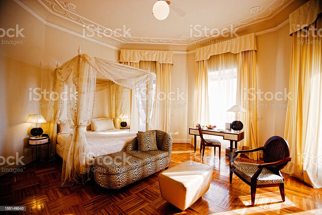 Luxury Romantic Hotel Suite royalty-free stock photo