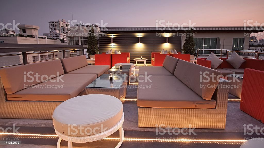 Luxury Rooftop Lounge stock photo