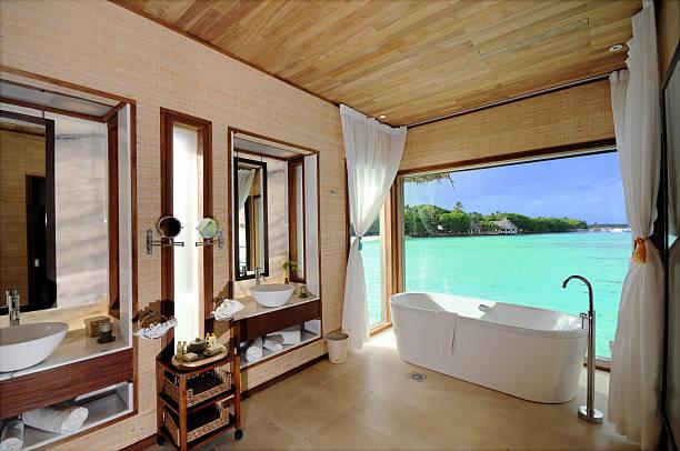 luxury zimmer - bad renovieren kosten stock-fotos und bilder