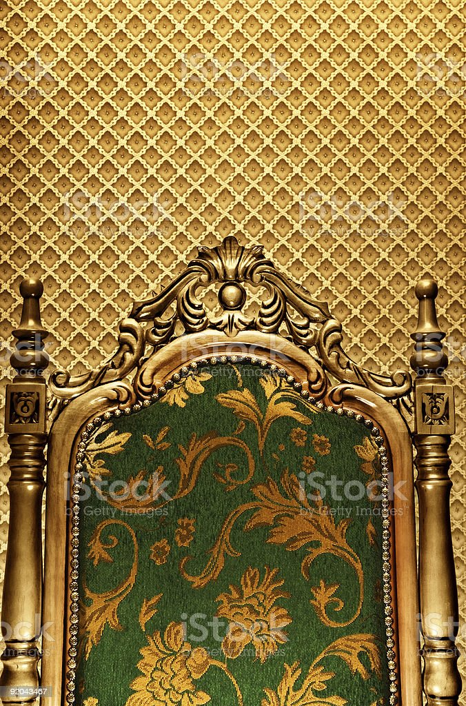 Luxury royal chair royalty-free stock photo