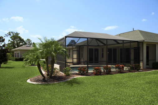 Luxury landscaped tropical villa
