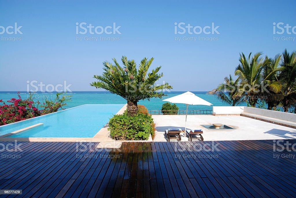 luxury seaside apartment royalty-free stock photo