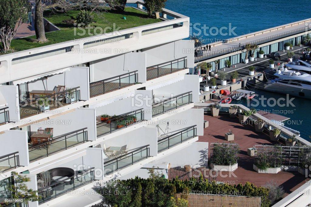 Luxury Seaview Balcony Apartment in Monte-Carlo, Monaco stock photo